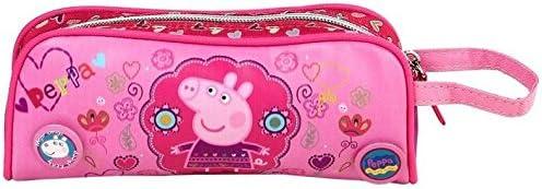 Gran estuche de lona rosa Peppa Pig: Amazon.es: Oficina y papelería
