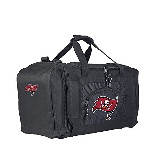 Amirshay, Inc.. Tampa Bay Buccaneers NFL Roadblock Duffel Bag (Black/Black) (2-Pack) by Amirshay, Inc.