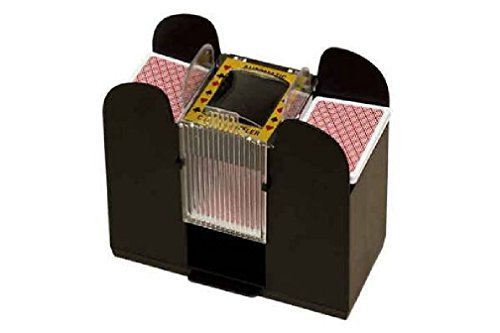Fancy New 6 Deck Automatic Card Shuffler - No More Sore Hands From Manual Shuffling (Bamboo Response Card)