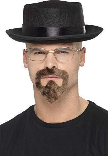 Mens Ladies Instant Disguise Breaking Bad Walter White Heisenberg Hat Glasses Goatee Beard Halloween Fancy Dress Costume Outfit Accessory Kit