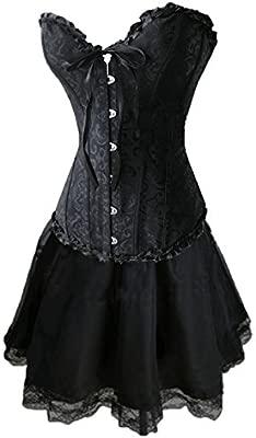 Burlesque Box - Disfraz para mujer con corsé y falda, diseño ...