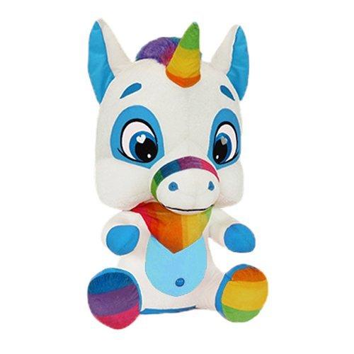 Blue White RetailSource Ltd 3-764-BLU Upton The Unicorn 10.5 in Plush Collectible Toy