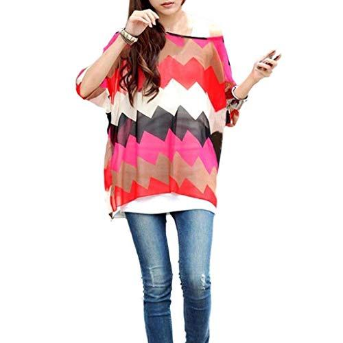 Mousseline Chauve Mince Blouse Dsinvolte Et Souris paules Nues Welle Ar Tops Tunique Style Mode Spcial Fleur Femme Imprim Vintage Haut Large Elgante STwSU8qx