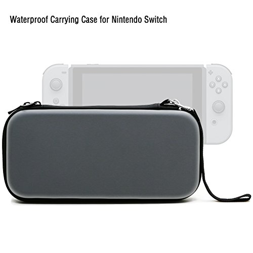 ADVcer Nintendo Switch Carrying Case, EVA Waterproof Hard Shield Protective Travel Case with Detachable Hand Wrist Strap for Nintendo Switch Console with Joy-Con Controller and Game Card