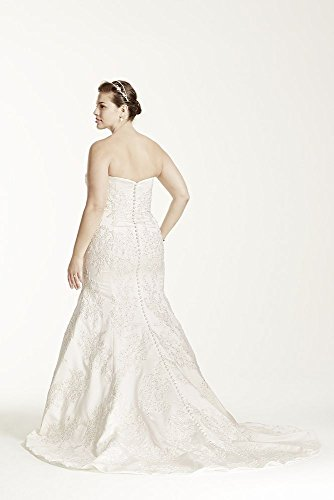 465617531e2a Home/Brands/Wdress/David's Bridal Sample: Strapless Satin Trumpet Gown with Lace  Style AI14030103, Ivory, 16W. ; 
