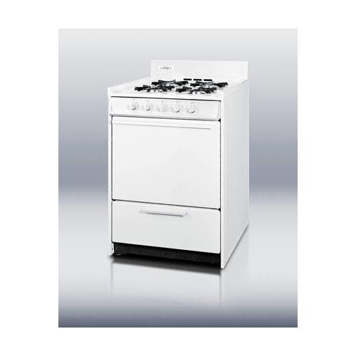 Summit WNM610P Kitchen Cooking Range, White by Summit