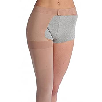 461d4e436f9 Image Unavailable. Image not available for. Color  Juzo Varin Thigh High w Waist  Attachment 30-40mmHg Open Toe ...