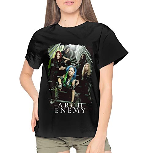 Arch Enemy Womens Casual Short Sleeve T-Shirt Tops XL Black