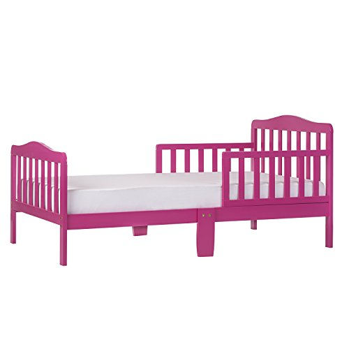 Dream On Me Classic Toddler Bed in Fuchsia Pink