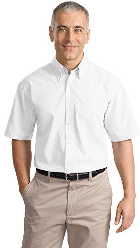 Port Authority Short Sleeve Value Poplin Shirt, White, XXX-Large