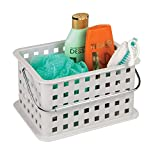 InterDesign Storage Organizer Basket, for Bathroom, Health and Beauty Products - 9.25' x 7' x 5', Light Gray