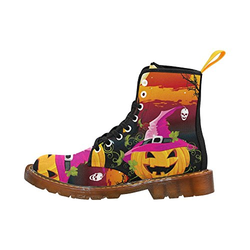 D-story Shoes Happy Halloween Pompoen Vleermuis Veter Martin Laarzen Voor Dames Multi9