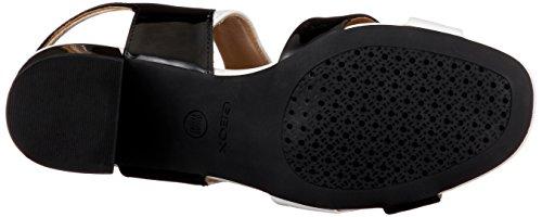 a con Mujer Black Sandalo para Mid Geox Cu Sandalias Audalies Whitec0127 Negro a D YIUqwxR