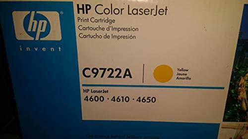 Hewlett Packard C9722A OEM Toner - HP 641A Color LJ 4600 4610 4650 Yellow Original LaserJet Toner Cartridge (8000 Yield) (80/Pallet)