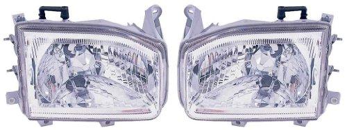 (99-04 Nissan Pathfinder Headlights Headlamps Head Lights Lamps Pair Set)