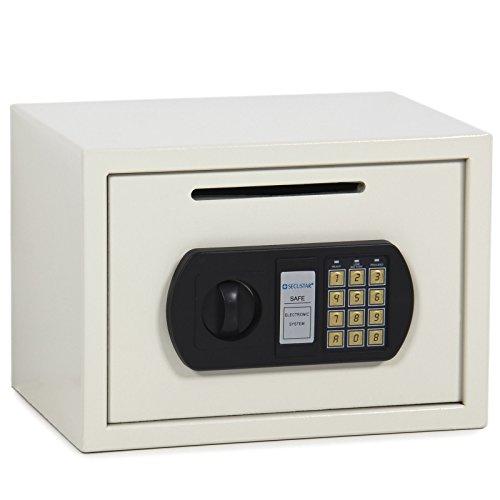 Eight24hours 0.8CF Digital Depository Drop Cash Safe Security Jewelry Gun Home Hotel Box - R2