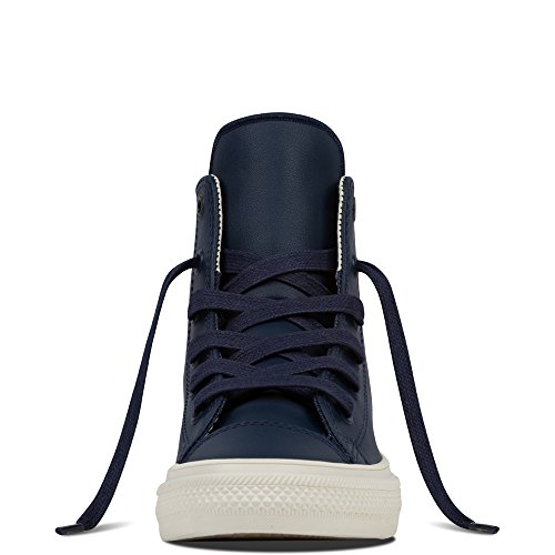 Converse Chuck Taylor All Star II Junior Black Leather Trainers Athletic Navy