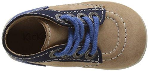 KickersBonbon - Zapatillas altas Bebé-Niñas Beige (Beige Marine Bleu)