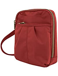 Anti-Theft Signature Slim Day Bag, Cayenne, One Size