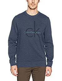 Jeans Men's Long Sleeve Ck Logo Crew Neck Sweatshirt