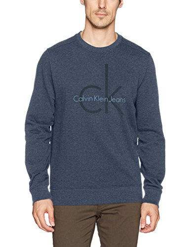 179a4e122a9 Calvin Klein Jeans Men s Long Sleeve Ck Logo Crew Neck Sweatshirt Sweater