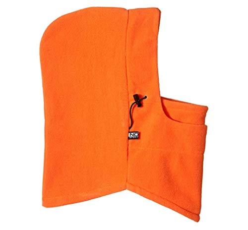Fleece Hood 1 - Newest and Functional 6 in 1 Neck Warm Helmet Winter Face Hat Fleece Hood Ski Mask Equipment Black Adjustable Size (Orange)