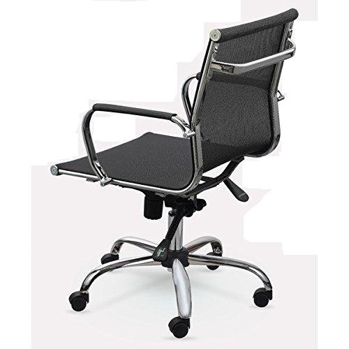 Winport Furniture WF-7712 Mesh 7712 Office Conference /& Desk Chair Single Stack Black