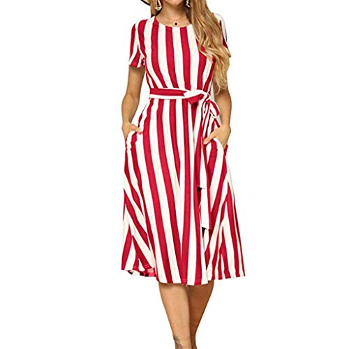 WEISUN Women Vintage Boho Dress Summer Sleeve Beach Printed Dress Lace Up Short Mini Dress Sale Today Red (Nautica Vintage Shorts)