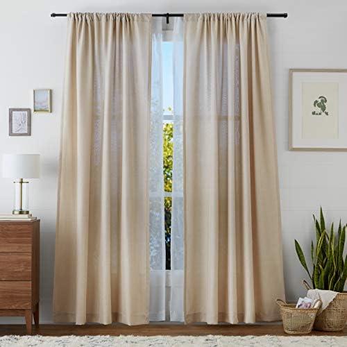 Basics Tringles /à rideaux en double 36-72 Noir