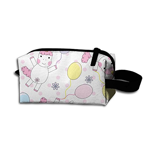 Price comparison product image Create Magic Cute Unicorn Girl With Colorful Balloons Pen Holder Stationery Pencil Pouch Waterproof Multi-purpose Storage Tote Tools Bag Cosmetic Bags With Zipper And Hanging Loop