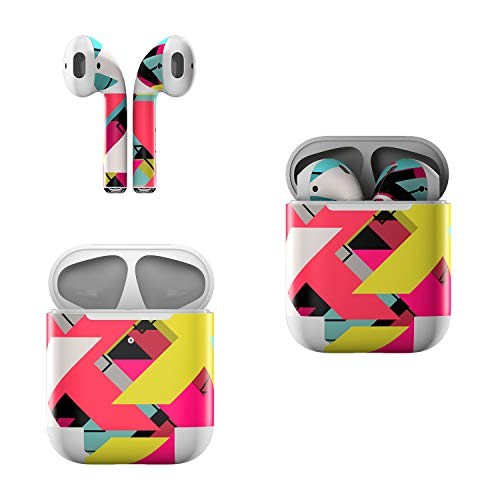 Skin Decals for Apple AirPods - Baseline Shift - Sticker Wrap Fits 1st and 2nd -