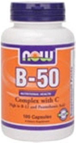 La vitamine B-50 Complex avec 250 mg de vitamine C 100 Capsules