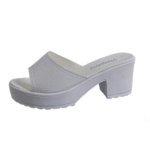 b2712fc576b Chanclas para Mujeres K-Youth Sandalias para Mujer Moda Zapatillas Sandalias  de Mujer de Tacón