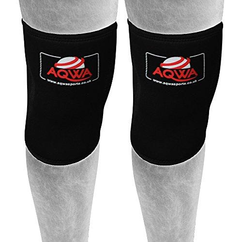 aqwa 7mm pour support genou en néoprène de haute qualité de compression, protège la Rotule, Soulagement De La Douleur De Course à Pied hommes & femmes, Noir