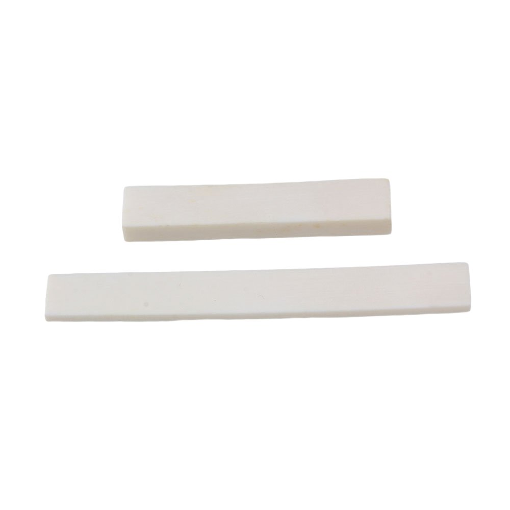 BQLZR White Blank Bone Nut and Bridge Saddle for Acoustic Guitar Classical Guitar DIY Accessories Pack of 5 by BQLZR (Image #3)