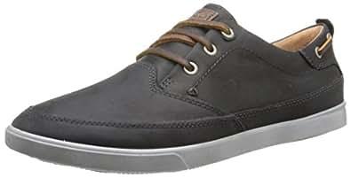 ECCO Men's Collin Nautical Sneaker Oxford, Black/Cocoa Brown, 39 EU/5-5.5 M US