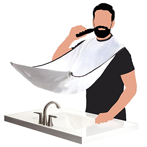 Suction Cup Tow Mirror - AGERIOS Beard Shaper for Men, Beard shaping tool guide for line up & edging. Goatee Template & Mustache Comb, Tow Shape in One Fits All, Curve Cut, Step Cut, Men's Gift