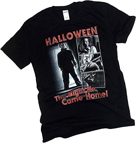 Halloween Movie, 40th Anniversary, The Night He Came Home, Adult T-Shirt, X-Large ()