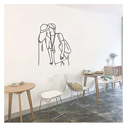 Yingealy Decorate Your Home Personalized Pattern Lovers kiss Decorative Wall-Bedroom Dorm Room Study Shops Decorated with Pictures of Couples in The Background. (Color : Couples|in)