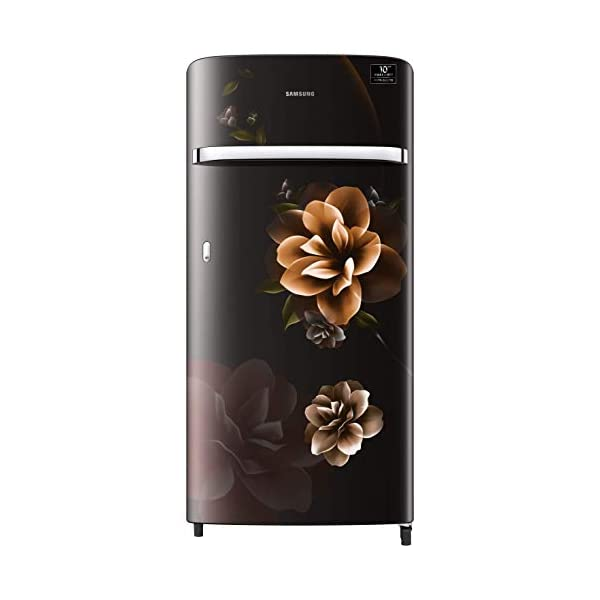 Samsung 198 L 4 Star Inverter Direct-Cool Single Door Refrigerator (RR21T2G2XCB/HL, Camellia Black) 2021 July Direct-cool refrigerator : Economical and Cooling without fluctuation Capacity 198 liters: Suitable for families with 2 to 3 members and bachelors Energy rating 4 Star : high efficiency model