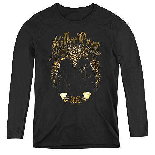 Suicide Squad Killer Croc Skin Adult Long Sleeve T-Shirt for Women, X-Large Black