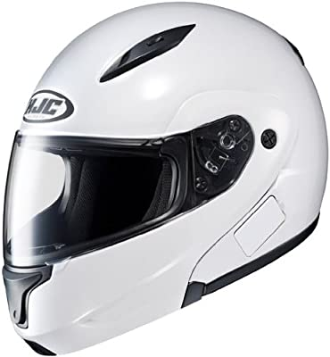 HJC Solid Men's CL-MAX II Bluetooth Sports Bike Motorcycle Helmet - White 2X-Large