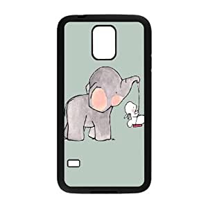 DIY Elephant Theme Phone Case Fit To Samsung Galaxy S5 , A Good Gift To Your Family And Friends