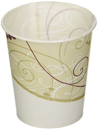 Wax Coated Paper Cups - SCCR53J - Jazz Waxed Paper Cold Cups, 5 Oz, Tide Design