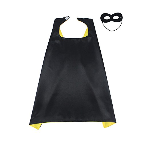 D.Q.Z Dress Up Costumes Satin Capes with Felt Masks, Superhero CAPE & MASK for Chidren (2)