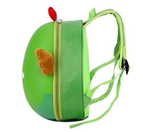 Huateng Kleinkind Schultasche Baby Mädchen Jungen Kindertier-nette Küken/Schwein/Tiger/Elch/Frosch-Karikatur-Muster-Rucksack-Ei-Shell-Rucksack Küken Grün