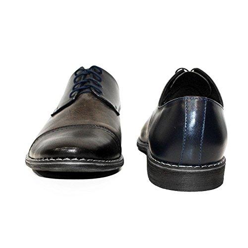 Verni Cuir Cuir Barillo Cuir Brun Vachette de Modello des Handmade Hommes Lacer Italiennes pour Oxfords Chaussures 6FU6qWvH1