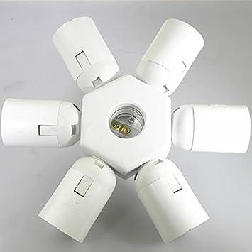 7 in 1 E26 E27 Lamp Bulb Socket,Kyson E27 to E27 Light Lamp Bulb