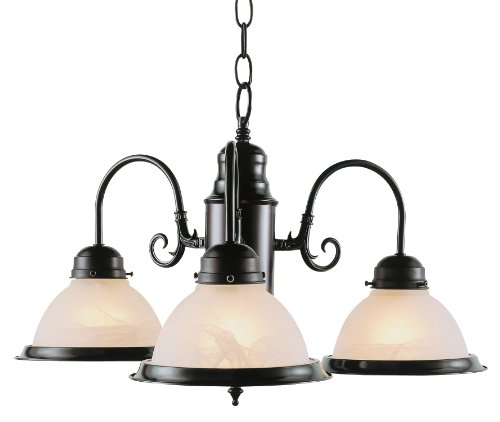 Trans Globe Lighting 1098 ROB Indoor  Baldwin 19'' Chandelier, Rubbed Oil Bronze by Bel Air Lighting