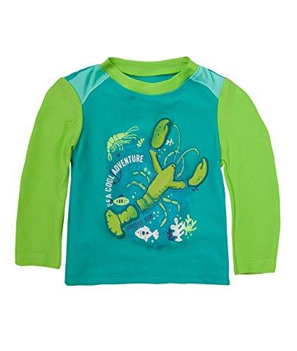 OFFCORSS Baby Boy Summer Beach Clothing UV Protection Long Sleeves Rashguards Swimsuits Kids Shirt Trajes de Baño Para Niños Bebe Varon Lobster 6/9M